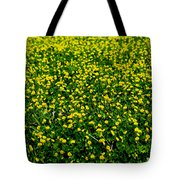 Green Field Of Yellow Flowers 3 Tote Bag