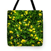 Green Field Of Yellow Flowers 4 Tote Bag