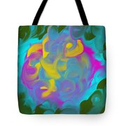 Green Fire Tote Bag