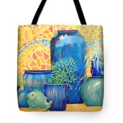 Green Fish And Friends Tote Bag