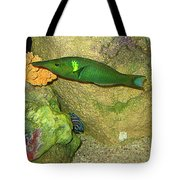 Green Fish Tote Bag