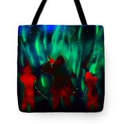Green Flames In The Night Tote Bag