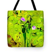 Green Fluidity Tote Bag