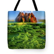Green Fly Geyser Tote Bag