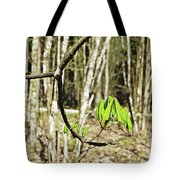 Green Foliage Forest Tote Bag