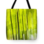 Green Forest Abstract Tote Bag