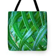 Green Forest Fern Fronds Art Prints Baslee Troutman Tote Bag