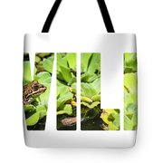Green Frog In A Wetland Tote Bag