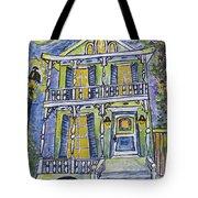 Green Garden District Home Tote Bag