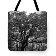 Green Giant In Black And White Tote Bag