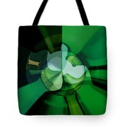 Green Glass Wheels Tote Bag