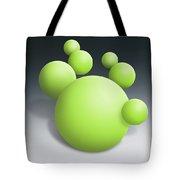 Green Globules Tote Bag