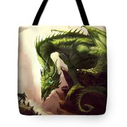 Green God Dragon Tote Bag