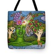 Green Goddesswith Waterfall2 Tote Bag