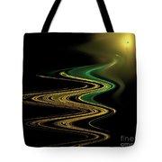 Green Gold Waves Tote Bag