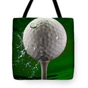 Green Golf Ball Splash Tote Bag