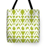 Green Graphic Diamond Pattern Tote Bag