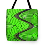 Green Grass Behind The Fence Tote Bag