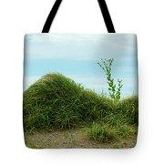 Green Grass Mountain Tote Bag