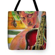 Green Hair Red Bass Tote Bag
