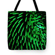Green Hairy Blob Tote Bag