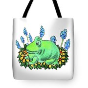 Green Happy Frog Tote Bag