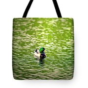 Green Head Tote Bag