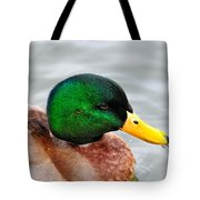 Green Head Tote Bag