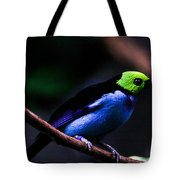 Green Headed Bird Tote Bag