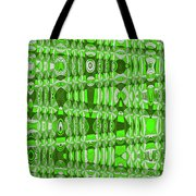 Green Heavy Screen Abstract Tote Bag