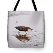 Green Heron Fishing Tote Bag