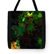 Green Horse Eating A Pear Tote Bag