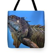 Green Iguana Tote Bag