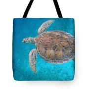 Green In Blue Tote Bag