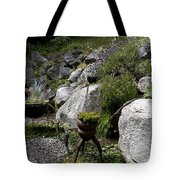 Green In Rock Garden Tote Bag