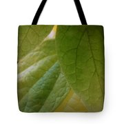 Green In Vein Tote Bag