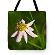 Green Iridescent Bee Tote Bag