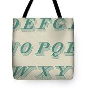 Green Italic Font Tote Bag