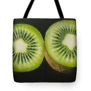 Green Kiwi Oil Painting  Tote Bag