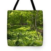 Green Landscape Of Summer Foliage Tote Bag