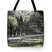 Green Lane With Live Oaks Tote Bag
