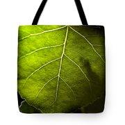 Green Leaf Detail Tote Bag