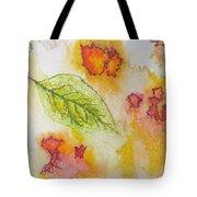Green Leaf Of Fall Tote Bag