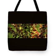 Green Leaf Red Leaf Pano Tote Bag
