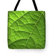Green Leaf Structure Tote Bag