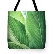 Green Leaves No. 2 Tote Bag by Todd Blanchard