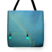 Green Light To A Rainbow Tote Bag