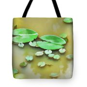 Green Lotus Leaf In The Lake Tote Bag