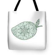 Green Mango Fruit Mandala  Tote Bag