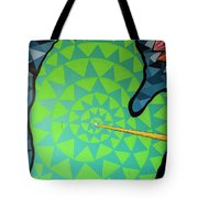 Green Map Of Michigan With And Arrow Pointing To Lansing Michiga Tote Bag
